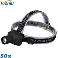 X50 DHL Free Powerful CREE Q5 фары фары Zoom водонепроницаемая аккумуляторная батарея 18650 Led Head Lamp Bicycle Camping Hiking Light