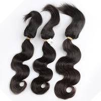 Wholesale straight braiding hair for sale - Group buy New Arrival Virgin Brazilian Hair Bundles Straight Human Braiding Hair PC Body Wave Straight Curly By Fedex