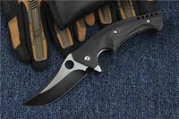 Wholesale Bored Lock - New Arrival Flipper Folding Blade Knife S30V 58HRC Titanium Blade EDC Pocket Knife Survival Tactical Knives Ball Bearing System Lock Liner