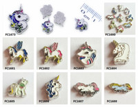 Wholesale silver unicorn charm resale online - unicorn floating locket memory charms fit for memory locket DIY Accessories as kids friends gift FC1680 FC1688