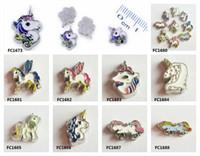 medallón de unicornio al por mayor-Envío gratis 10 unids / lote unicornio encantos de la memoria locket flotante aptos para memoria locket DIY Accesorios como regalo de los niños amigos FC1680-FC1688