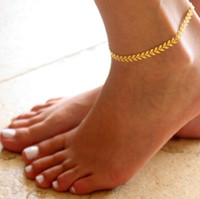 Wholesale Golden Anklets - Unique Nice Chain women Anklet souvenir Ankle Bracelet Bohemia arrow golden silver Foot Jewelry Fast Free Shipping Hot Selling 14