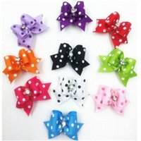 Wholesale Hair Bows Supplies - Handmade Fashion Dog Hair Accessories Lovely Pet Hair Bows Grooming Gift Products Cute Dog Show Supplies