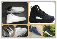 Cheap Retro 12s XII 12 Sunrise THE MASTER BLACK GOLD Scarpe da pallacanestro WOOL Scarpe sportive Uomo Athletics White OVO Wings Scarpe da donna blue francesi