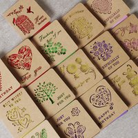 Wholesale Valentine Card Messages - New Arrivals Kraft hollow small card Thanksgiving festival Valentine greeting card for wedding birthday Leave Message card