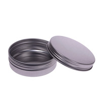 Wholesale Aluminium Cosmetic Containers - 5 10 15 30 60 100 150 250 ml Makeup Aluminium Jar Tin Pot Nail Art Lip Empty Cosmetic Containers Screw Thread Cream Storage F201735