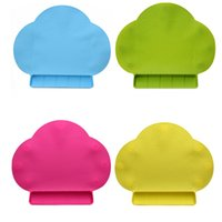 Wholesale Cloud Suck - Large Silicone Placemat For Children Baby Cloud Shape With Sucking Disc Blue Pink Green Red Color Silicone Table Mat BPA Free Anti Slip
