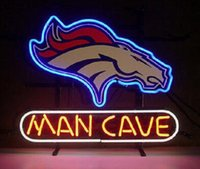 """Wholesale Horse Place - Man Cave Horse Neon Sign Custom Handmade Real Glass Bar Club KTV Pub Store Sport Game Advertising Display Neon Signs 17""""X14"""""""