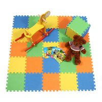 Wholesale Eva Play Mats - Hot Selling 10Pcs Lot Baby Play Mat EVA Foam Play Puzzle Mat Carpet Interlocking Exercise Tiles Floor Rug 30*30*0.8CM VE0146