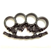2 black street fights - THICK Steel Brass Knuckles Street Fighting Knuckle Dusters clutch Brass dusters Personal self defense Security Pendant mm Thickness
