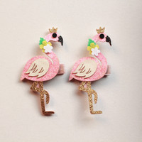 clips pour cheveux achat en gros de-Animaux Cute Rabbit Cartoon Swan Hair Clip Coréen Brillant Girls Fawn Hair Owl Lovely Bea Hairpins Stars Princess épingle à cheveux Cute