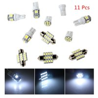 Wholesale Dome Light Kit - Brand New 11pcs White LED lights T10 & 31mm Dome Map & Tag lamp for Interior Package Kit CLT_06Q