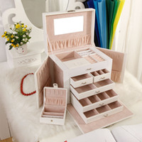 Wholesale Decorating Boxes - multifunctional jewelry cuboid box storage wooden Large European wood jewelry box Princess multifunctional storage box decorated with lock b