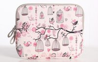 Wholesale 13 Inch Pink Notebook - Birds & flowers pattern Notebook Laptop Sleeve Case Carry Bag Ipad case bag-pink