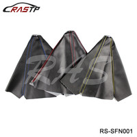 ingrosso fibra di carbonio jdm-RASTP -General Car Auto Stitch Pelle in fibra di carbonio JDM Shift Knob Shifter Boot Cover per MT / AT Sport LS-SFN001