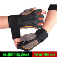 Wholesale Glove For Bodybuilding - Tactical Sports Fitness Weight Lifting Gym Gloves Training Fitness Bodybuilding Workout Wrist Wrap Exercise Glove For Men Women Free Shippin