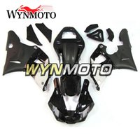 Black White Carénages pour Yamaha YZF R1 2000 2001 Injection ABS Motorcycle Cowlings Moto kit carénage Carrosserie Cadres Couvertures