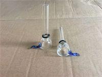Wholesale Slide Slider - Wholesale Glass Slide Bowl Diameter 9mm for Glass Binger Bongs and Pipes Clear Slider Bowls with Blue Ear Restraints