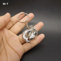 Wholesale Ring Solution - With Key Ring Casual Gadget Ring Opening IQ Brain Teaser Puzzle Educational Toys Unlock Fish Ring Solution