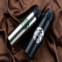 Wholesale Free Drinking Glasses - Wholesale Top Quality Starbucks Water Bottle High Capacity Glass Stainless Steel Thermal Insulation Cup 500ML 9 Styles Free Shipping