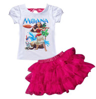 Wholesale Dream Kids Clothes - hot sell Print Dream Tropical Moana Dresses Infant Baby Girls Clothing Costume Children Party Kids Princess Dress