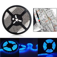 Wholesale Self Adhesive Strip Lights - 5M 300 LED 3528 SMD Waterproof Self-adhesive Blue Flexible Strip Light Car Auto 12V DC DEL_00M