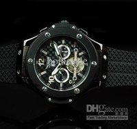 Wholesale Mechanical Tourbillion Watch Dive Stainless - jaragar Big Bang Black Men Mechanical Tourbillion Stainless Dive Luxury Swiss Mens Sport Wrist Watch