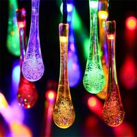 Wholesale Decoration For Patio - Icicle Solar String Lights Outdoor Globe Light RGB 20 Led Fairy Lights for Patio, Solar Lights Garden Decoration for Christmas Tree