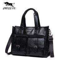 CROSS OX Nuovo arrivo Satchel Briefcase Business Borsa da 15 pollici Borsa per laptop Documenti Borsa da viaggio in pelle artificiale HB570M