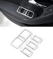 Wholesale car window lift online - Car Styling Stainless Steel Interior Door Window Lift Switch Panel Cover For VW POLO Trim Decoration Accessories