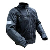Wholesale Protective Jackets - High quality 2017 New Summer Mesh Motorcycle Jacket Automobile Motorbike Riding Jackets breathable With protective gear Black
