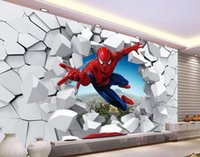 Wholesale Back Roll Painting - 3D brick wall cartoon decoration painting background wall mural 3d wallpaper 3d wall papers for tv backdrop