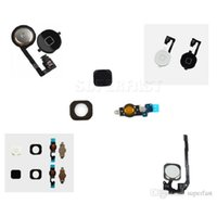 Wholesale Button Black Home 4s - For iphone 4 4S 5 5C 5S Home Button Assembly Flex Cable Ribbon Menu Replacement Repair Parts Black White Gold Free Shipping By DHL