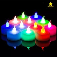 Wholesale Led Plastic Candle Tea Light - LED Electronic Candle Light Creative Wedding Christmas Birthday Flameless Candle Venue Layout Props Button Decorations Tea Light