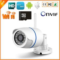 Wholesale Outdoor Security Cameras Sd - BESDER Wifi Wired Security IP Camera 720P 1.0MP ONVIF P2P Motion Detection With SD Card Yoosee Remote Viewing Bullet Outdoor IPC