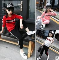 Wholesale Sportswear Sports Suit Baby - 3-12 years girls clothing sport suit cartoon clothing set kids clothes baby girls children clothing girls sportswear