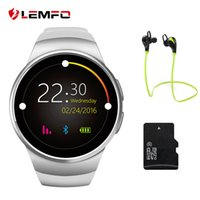 Lemfo kw18 smart watch bluetooth pulsmesser intelligente smartwatch unterstützung sim tf karte für apple samsung telefon