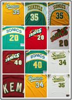 Wholesale Cheap Kd S - Retro #20 Gary Payton Stitched Jersey Seattle Throwback Cheap 40 Shaw Kemp Basketabll Jerseys 34 Ray Allen men jerseys 35 KD sonics jerseys