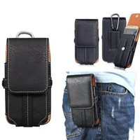 Universal Clip Belt Holster PU Leather Wallet Card Case com fivela para iPhone 7 8 X Samsung Note8 ZTE HTC Huawei Lenovo LG 5.1 5.5 6.3inch