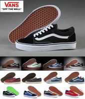 Wholesale Tan Mens Shoes -  Unisex Old Skool  Canvas Shoes Classic White Black Brand Women And Mens Mid  Skateboarding Sneakers Casual Shoes