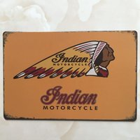 Wholesale Home Sale Signs - hot sale Indian Motorcycle tin sign Vintage home Bar Pub Hotel Restaurant Coffee Shop home Decorative Metal Retro Metal Poster Tin Sign