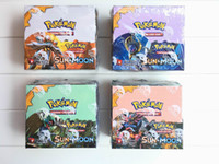 Wholesale Pokemon Trading Card Game - Poke Trading Cards Games Sun & Moon Version 4 Styles Anime Pocket Monsters Cards Toys 324pcs lot