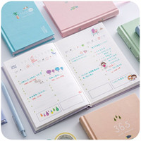 Wholesale New Arrival Days Personal Diary Planner Hardcover Notebook Weekly Schedule Cute Korean Stationery Flower Agenda
