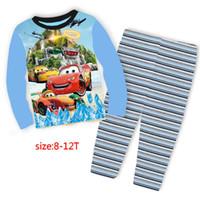 Wholesale Sleep Wear Girls - 2017 Wholesale Boy Girls Mcquenn Pijamas Kids Cartoon Sleep wear Childrens cotton Night Pajamas Sets for 8-12Y 2002