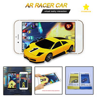 Wholesale Real Vibration - AR Racing Car with Real Flashes Leaps Vibrations Pocket Toy Mini Toy Car for Iphone iPad and Android Phone with Retail Package