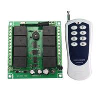 12v hf-schalter großhandel-DC 12V 8 Kanal RF Wireless Remote Control Schaltersystem Haushaltsmultiplexen Stromversorgung ein / aus