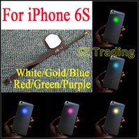 Para o iPhone 6S 4,7 LED Logo DIY Luminescente LED Light Glowing Logo Mod Painel Kit Para iphone6S Voltar Habitação DHL Free
