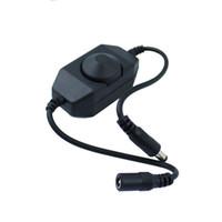 12v led dimmer schalter großhandel-Mini LED Helligkeit Einstellschalter Dimmer Controller für 3528 5050 5630 Einzelfarbe LED Streifen Licht LED Dimmer 12V