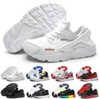 Wholesale kids golf shoes - New Kid Air Huarache Sneakers Shoes For Boys Grils Children Trainers Hurache Youth Kids Huaraches Sports Running Shoes Boost Size 28-35