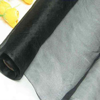 Wholesale Dressmaking Silk - 100% pure silk organza fabric black dressmaking sewing material cloth for dress for bridal dresses by the meter (1 yard 3 inch)
